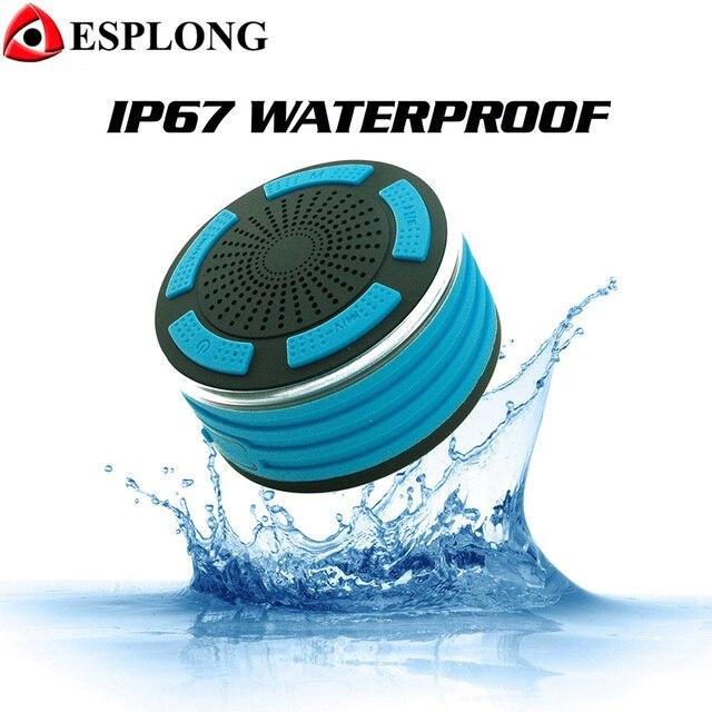 F013 Портативный Беспроводной Bluetooth Динамик Мини светодиодный сабвуфер IPX7 Водонепроницаемый Динамик Поддержка fm Радио ручной звонок бесплатный с микрофоном