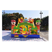 6LX4Wm Inflatable Bouncer Combo Inflatable Bouncer with Slide Funny Indoor Amusement Park For Kids Bouncer House With Blower