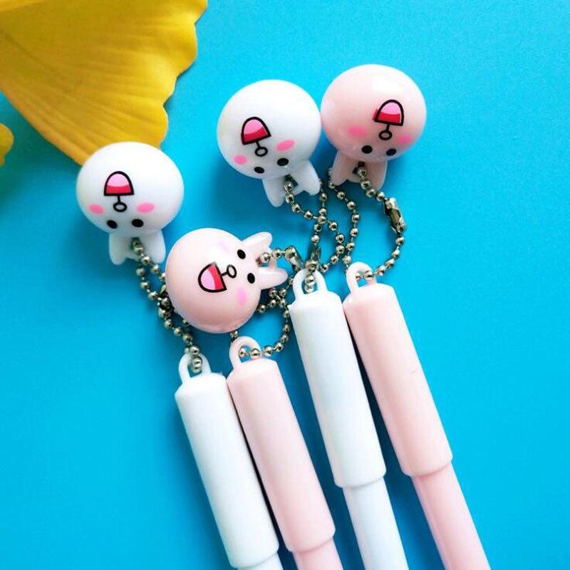 1pc Erasable Handles Gel Pen Cute Rabbit Pendant Boutique School Supplies Stationery Vanishing Ink Pen Student-only Erasable Pen