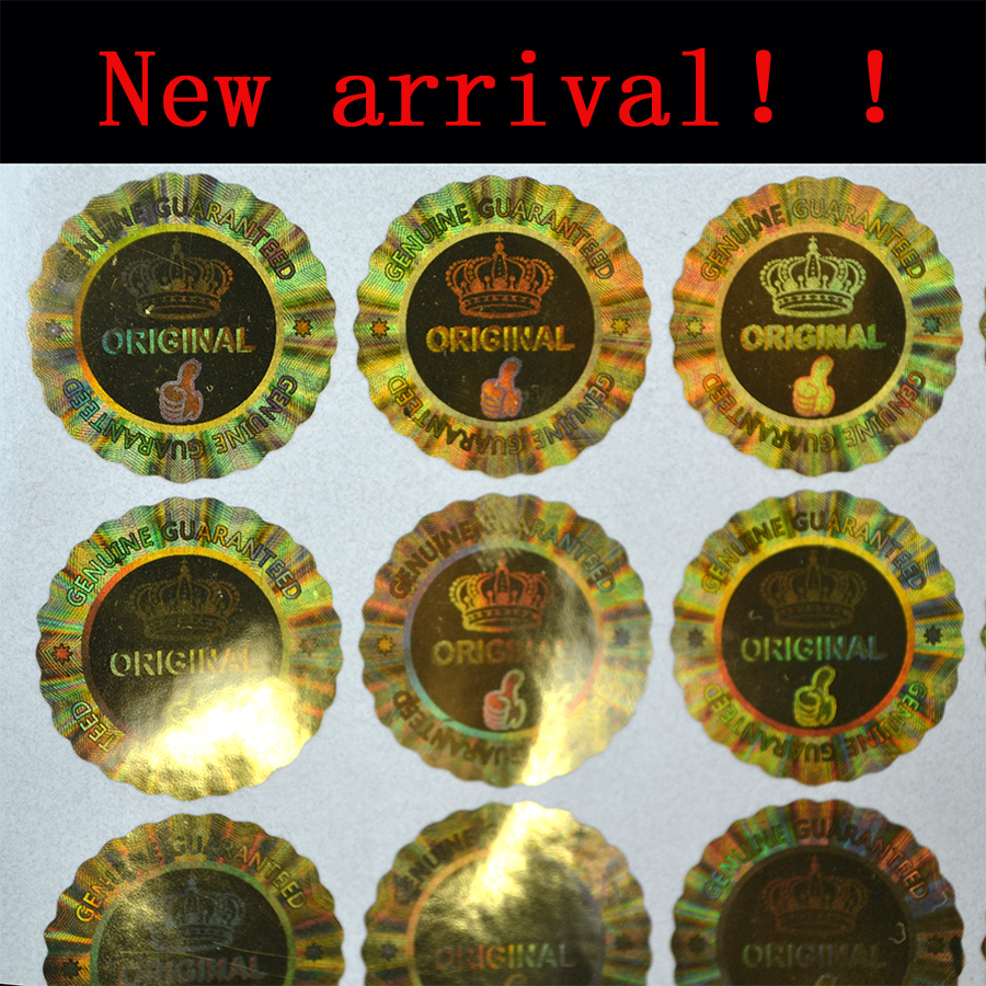 New arrival!!!  20x20mm Original Genuine Guaranteed VOID Hologram sticker with crown tip top Quality in chrysanthemum shape-in Stationery Stickers from Office & School Supplies