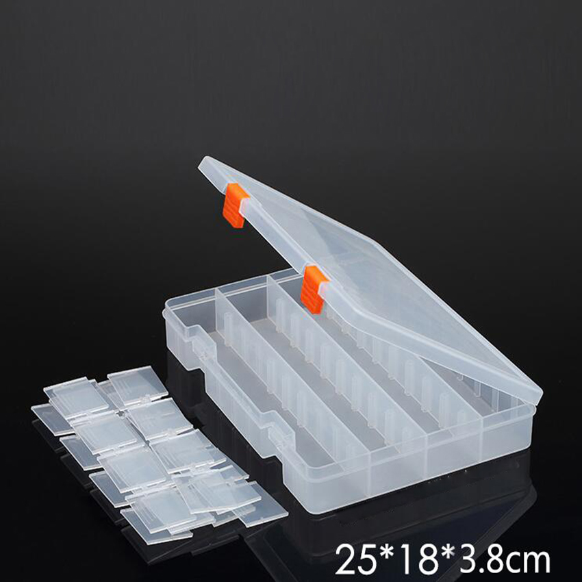1PC New 36 Slots Cells Portable Jewelry Tool Box Container Ring Electronic Parts Screw Beads Component Storage Box 250*180*38mm