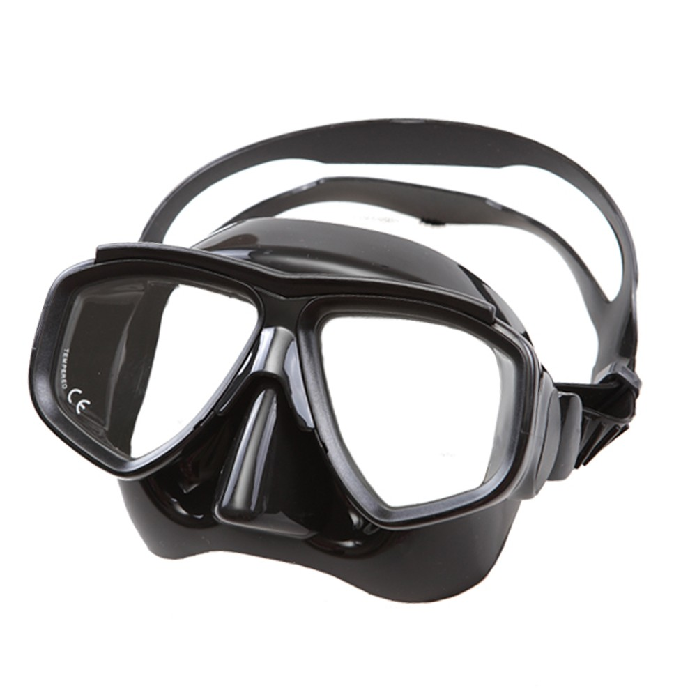 High quality Low volume freediving mask Tempered glass lens scuba diving mask Myopia lens snorkel mask for adult nearsight diver