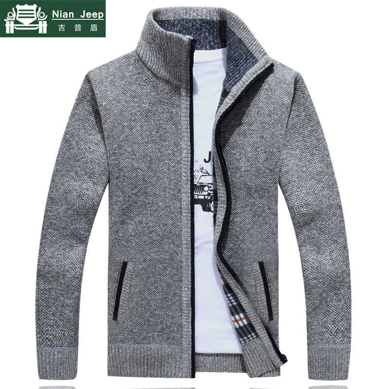 2019 neue Pullover Männer Herbst Winter SweaterCoats Männlichen Dicken Faux Pelz Wolle Herren Pullover Jacken Casual Zipper Strickwaren Größe M-3XL