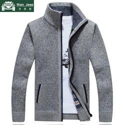 2019 новый свитер мужской осень-зима свитер пальто мужской толстый искусственный мех шерсть мужской s свитер куртки повседневная молния