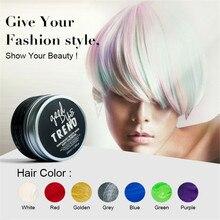 Temporary Hair color wax dye fashion Women Men Beauty Hair dye coloring cream DIY Hair Clay Wax Mud Dye Cream Grandma Hair Ash