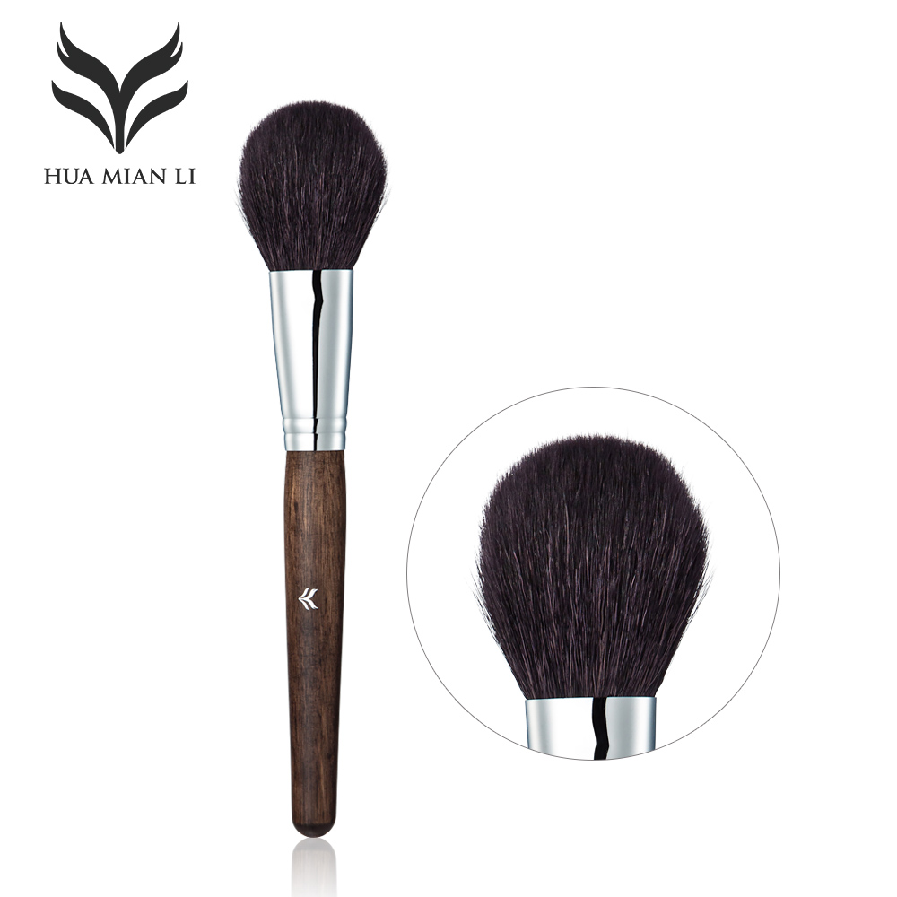 HUAMIANLI Brand Blush Powder Brush Contour Makeup Brushes Facial Care Cosmetics Foundation Wool + Wood Pole Makeup Tools brand new cosmetics 7 hourglass finishing brush blush brush makeup single brushes item same as photo