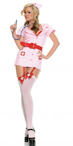 Sexy Bedroom Costume Fancy Dress With Free Shipping Pink Naughty Nurse Costume 3S1025 Halloween Costumes For Women
