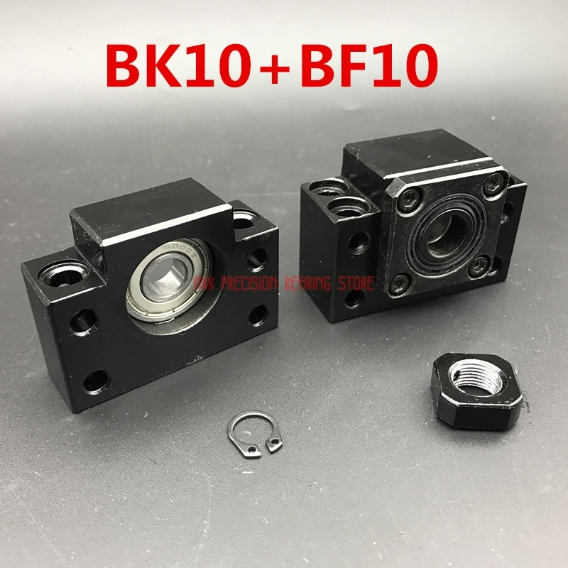 AXK Linear Rail Sfu1204 Ballscrew End Support Bk/bf10 Set :1pc Bk10 Fixed Side +1pc Bf10 Floated For Ball Screw 1204 Cnc PartAXK Linear Rail Sfu1204 Ballscrew End Support Bk/bf10 Set :1pc Bk10 Fixed Side +1pc Bf10 Floated For Ball Screw 1204 Cnc Part