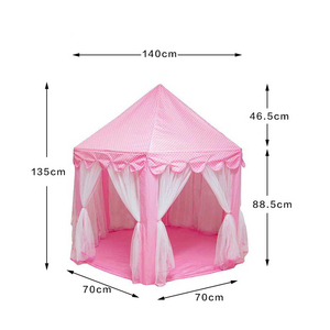 Image 5 - Portable Childrens Tent Toy Ball Pool Princess Girls Castle Play House Kids Small House Folding Playtent Baby Beach Tent