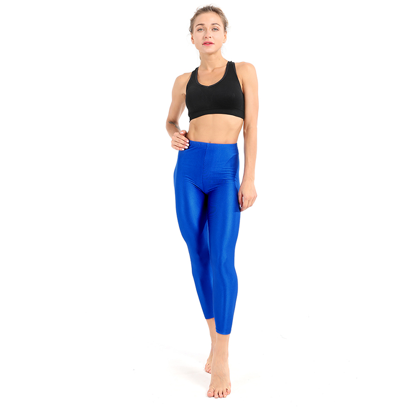 21 Colors Women Fitness Push UP Leggings Plus Size Fluorescent Leggings Ladies Shiny Leggins High Waist Stretchy Female Pants