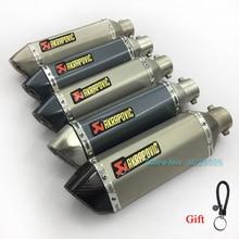 36-51mm Universal Exhaust Muffler DB killer For GY6 FZ6 Ninjia 250 Z750 R25 R3 R6 Most Motorcycle ATV Dirt Bike  Sticker Escape