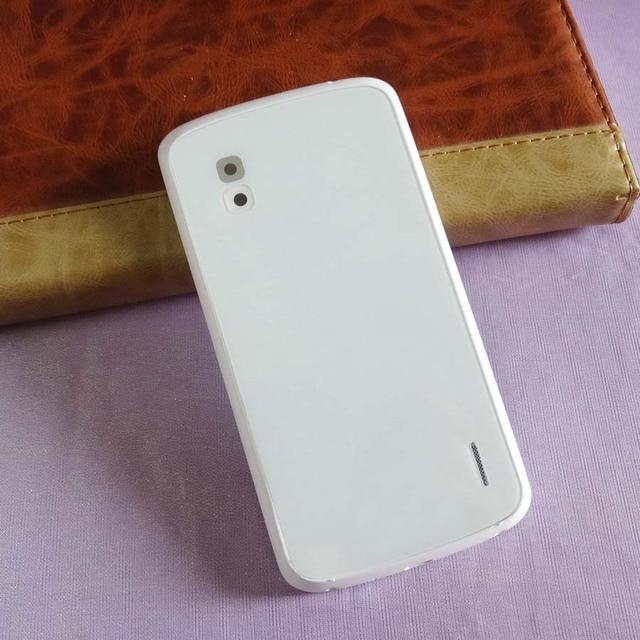 5 pièces/lot couvercle de batterie pour LG Google Nexus 4 E960 batterie porte couvercle du boîtier arrière + NFC pièces de réparation noir blanc couleur