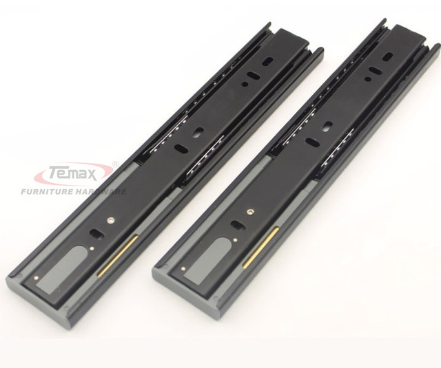 "10"" 250mm cabinet soft close hydraulic spring ball bearing drawer slides runner cupboard glides with damper DB456F"