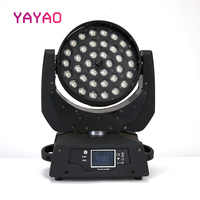 LED Par Zoom Wash Moving Head 36x10w 5IN1 DMX Touch Screen Stage Light RGBWA for DJ Party KTV Disco and Clubs