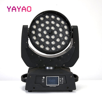 цена LED Par Zoom Wash Moving Head 36x10w 5IN1 DMX Touch Screen Stage Light RGBWA for DJ Party KTV Disco and Clubs онлайн в 2017 году