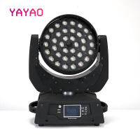 LED Par Zoom Wash Moving Head Light 36x10W 5IN1 DMX Touch Screen LED Stage Light Lighting RGBWA for DJ Party KTV Disco And Clubs