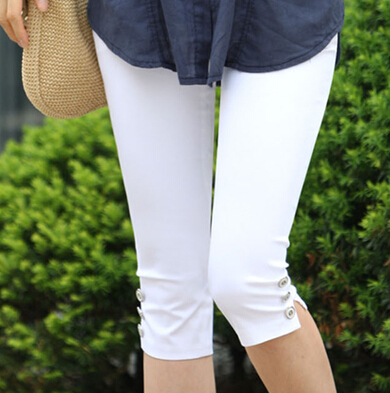 Wholesale New women summer casual candy color skinny slim pencil   pants   trousers   capris   plus size Free shipping