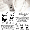 1 pc   Newly Design Fashion Beautiful Butterfly Tattoo Stickers Temporary Waterproof Body Beauty #D0690