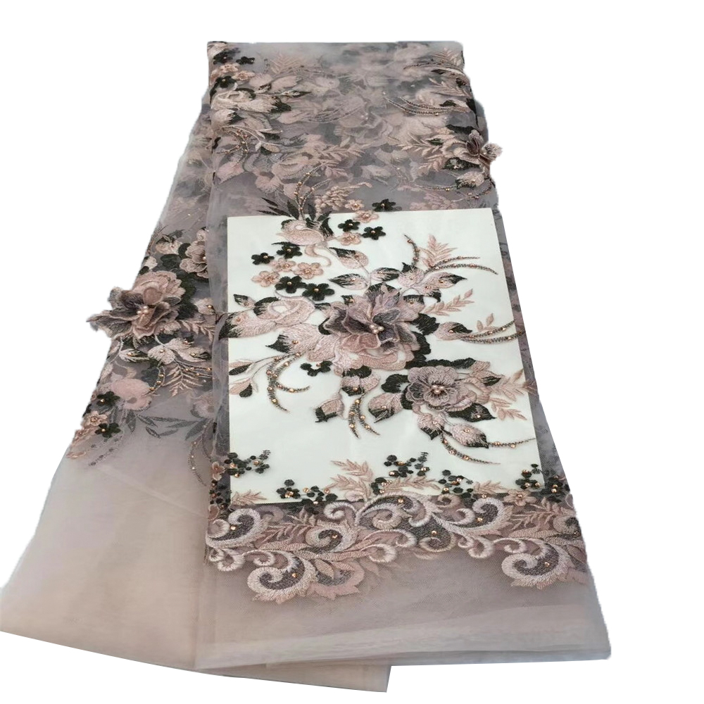 The Best-selling Nigerian Chiffon Lace Fabric With Exquisite Decals High Quality African Bride Embroidery Lace For African Garme Promote The Production Of Body Fluid And Saliva Lace Home & Garden