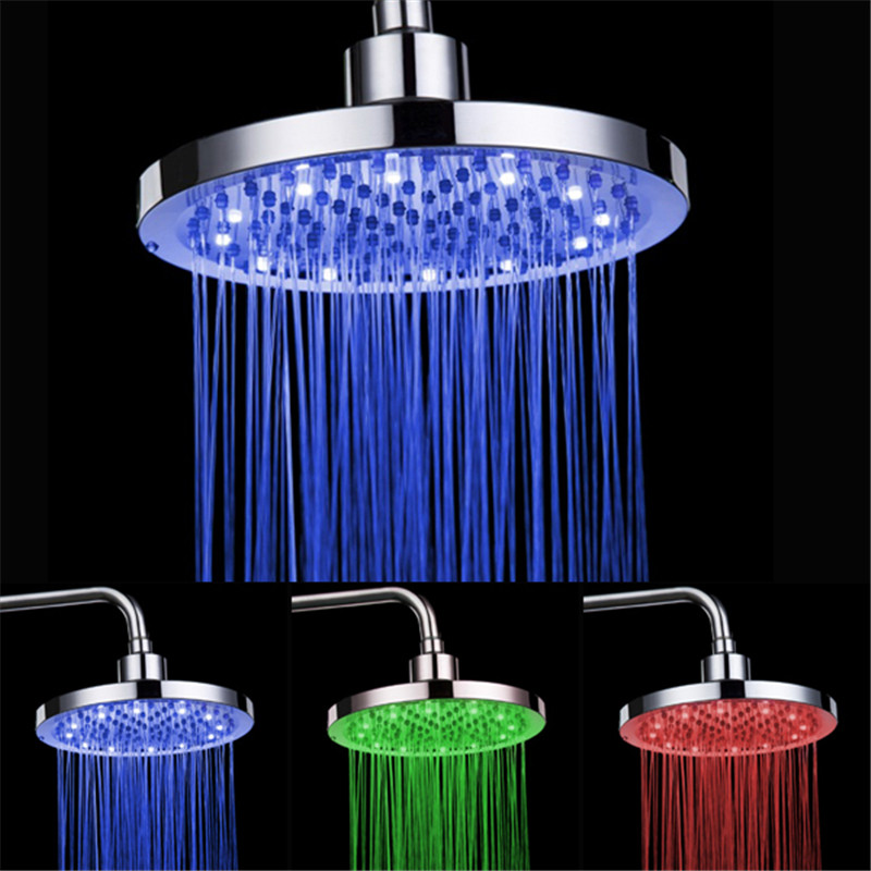 New LED Shower Heads Romantic 7 Color Rainbow Bathroom Shower Head Round Design for Sale LD8030-A2 автоинструменты new design autocom cdp 2014 2 3in1 led ds150