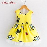 Одежда для девочек, платья, лето 2018, новое милое платье без рукавов с рисунком граффити