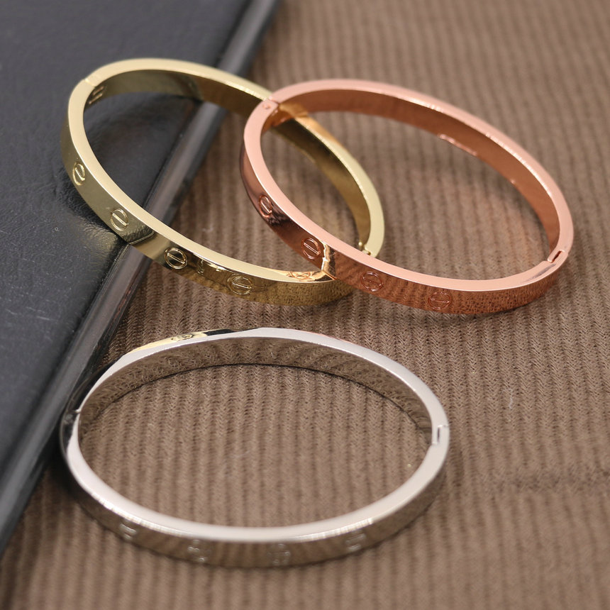Screw Bangle Bracelets Stainless-Steel Luxury Jewelry Gold Silver Women For Female Female