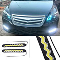 Car-styling 2pcs LEDs Daytime Running Light Waterproof COB Day Time Lights Flexible LED Car DRL Driving Lamp for VW for FORD