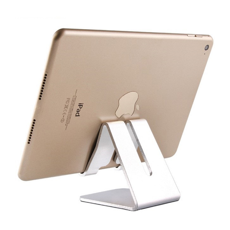 Universal Portable Aluminum Tablet Stand Tablet Holder Cell Phone Holder for iPad iPhone Mobile Phone for Desk Travel HW04