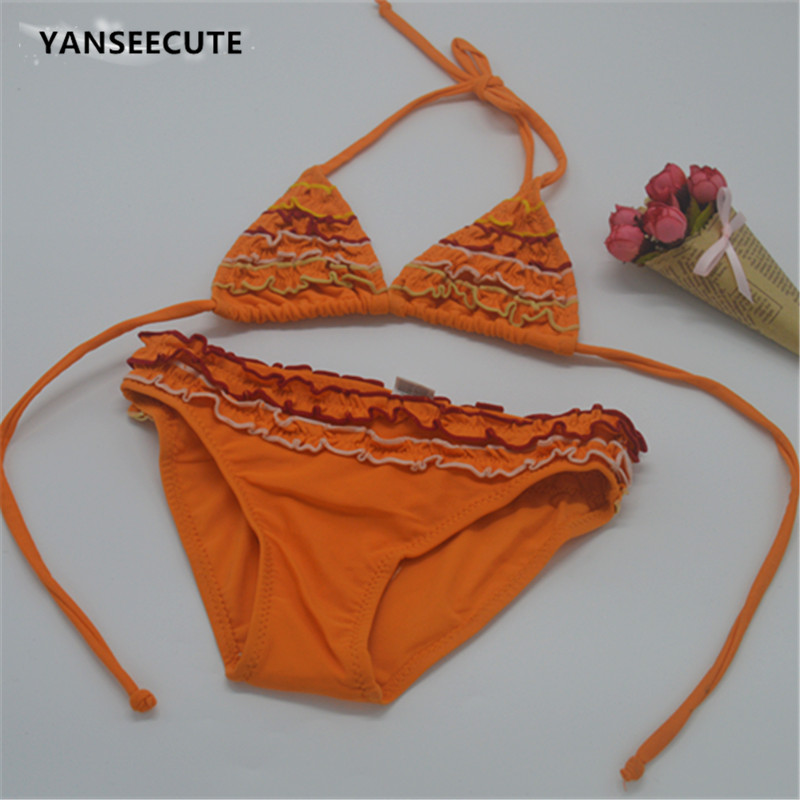 2017 girl bikini baby swimwear kids girls swim wear bikini ...