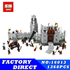 Lord Of The Rings Series LEPIN 16013 1368pcs Battle Of Helm Deep Model Building Blocks Bricks
