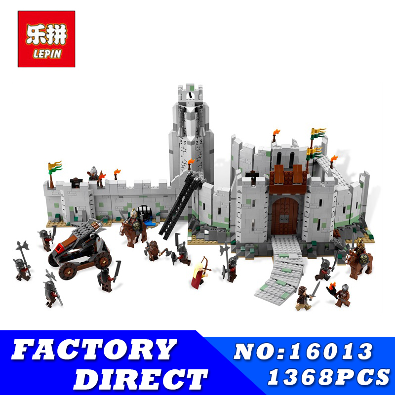 LEPIN 16013 1368pcs Movie Series Lord of the Rings Battle Of Helm' Deep Model Building Blocks Bricks for Children Toys все цены