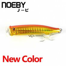 NOEBY 1 Pcs 2018 New Fishing Lure Popper 100mm 120mm Top Water Hard Bait With VMC Treble Hooks Lures Isca De Strong Temptation