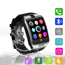 Smart Watch Q18 Smartwatch Support Sim TF Card Phone Call Push Message Camera Bluetooth Connectivity For Android Phone PK DZ09