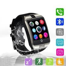 Купить с кэшбэком Smart Watch Q18 Smartwatch Support Sim TF Card Phone Call Push Message Camera Bluetooth Connectivity For Android Phone PK DZ09