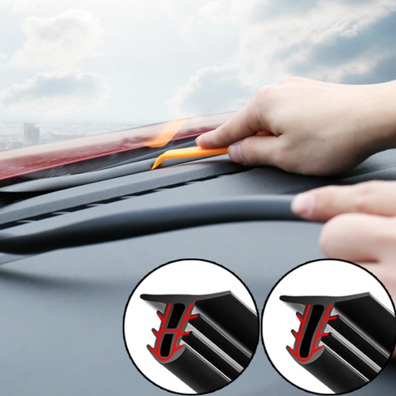 Car Dashboard Sealing Strips Sound Insulation For SEAT Altea Toledo MK1 MK2 Ibiza Cupra Leon Cupra For Skoda Fabia Rapid octavia-in Car Tax Disc Holders from Automobiles & Motorcycles