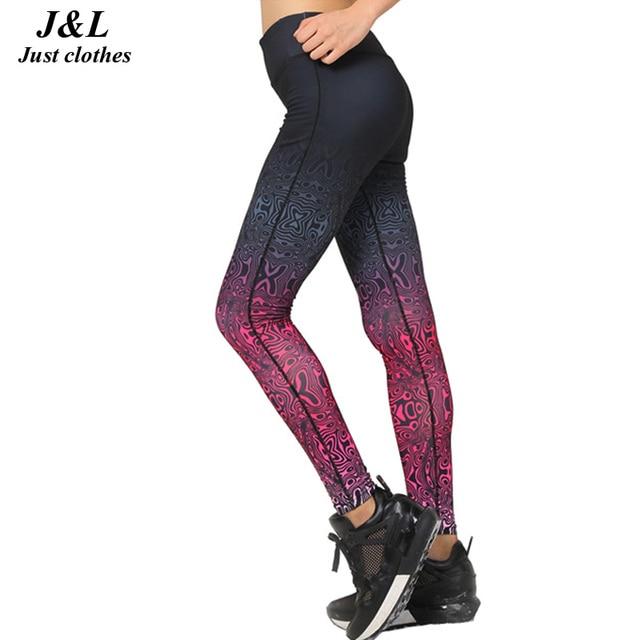 Women's Sporting Leggings Gradient Print Workout Women Fitness Legging Slim Jeggings 2017 New Clothing For Women Ropa Mujer