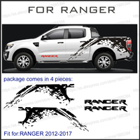Mudslinger Body Rear Tail Side Graphic Vinyl For Ford Ranger 2012 2013 2014 Sticker With KK