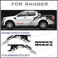 Mudslinger Body Rear Tail Side Graphic Vinyl For Ford Ranger 2012 2013 2014 Sticker With KK