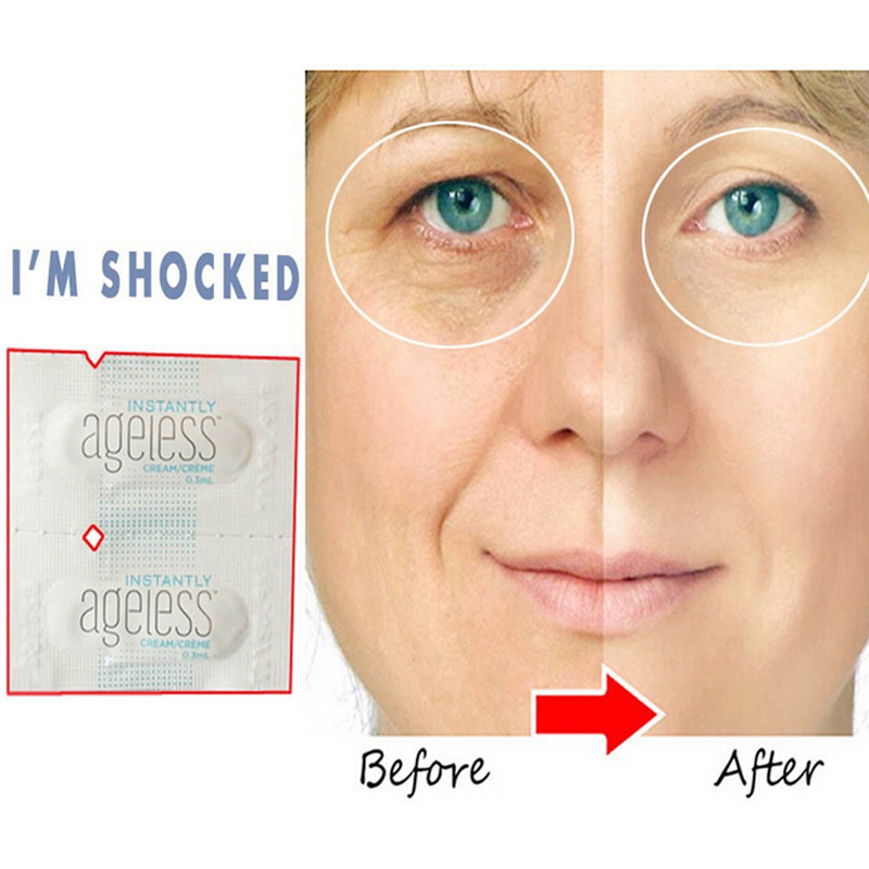 10 Sachets Instantly Ageless Face Lift Cream Anti Aging Skin Care