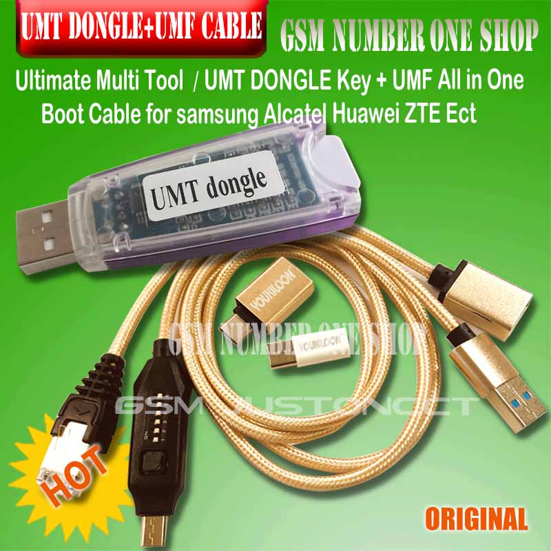 original new umt dongle umt key umf all in one boot cable for Samsung Huawei LG