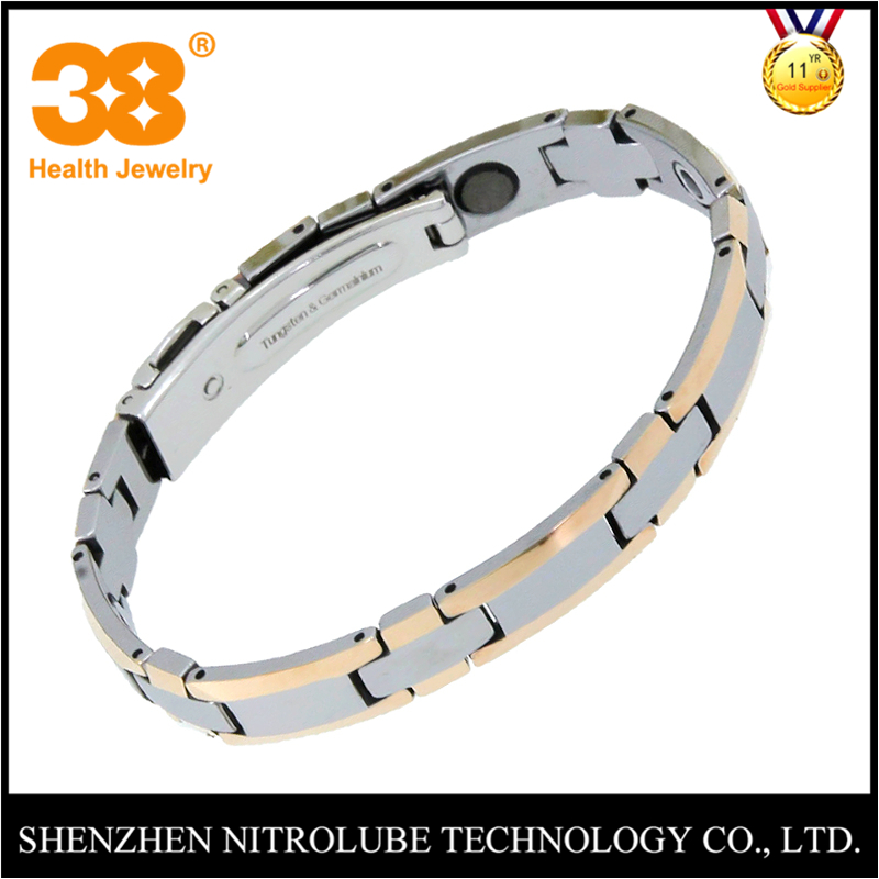 38 New Fashion Health Healing Couple Bracelet Bangles Trendy Tungsten Chink Link Wristband Germanium Charm Bracelet Womens 38 fashion health magnet charm bracelet full pure 99 9