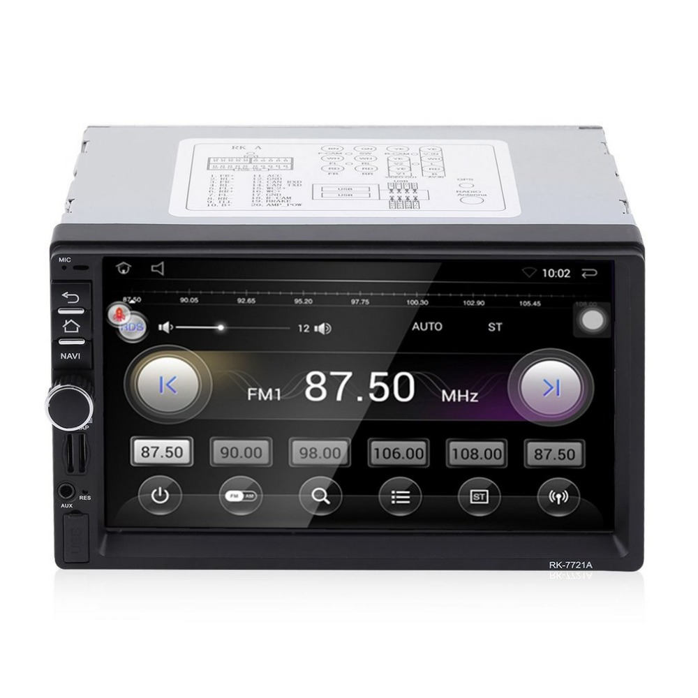new7 HD 1024*600 Car DVD Player touch screen MP3 Stereo Audio Video GPS camera reversing system Bluetooth WIFI Mobile Internet