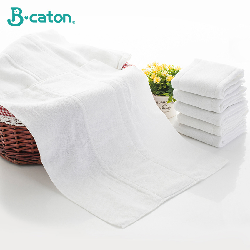 Baby Diaper Cotton Cloth Diapers Reusable Washable Pure Cotton Birdseye Fabric Safe Built-In Absorbent Cotton Thickening 56x30Cm