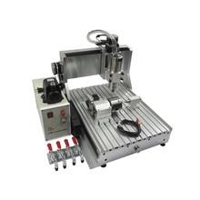 LY CNC 3040 4 eksen usb Z VFD 1500W mili ahşap freze makinesi 1.5KW metal oyma makinesi yönlendirici ile Limit anahtarı