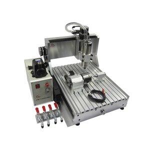Image 1 - Ly cnc 3040 4 eixos usb Z VFD 1500 w fresadora de madeira do eixo 1.5kw gravador de metal roteador com interruptor de limite