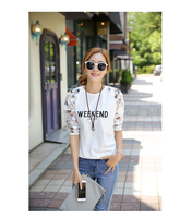 Spring 2017 New Fashion Women's Clothing Backing Cotton Long-sleeved Girl T-shirt Unlined Upper Garment O-Neck Ladies Tees Tops