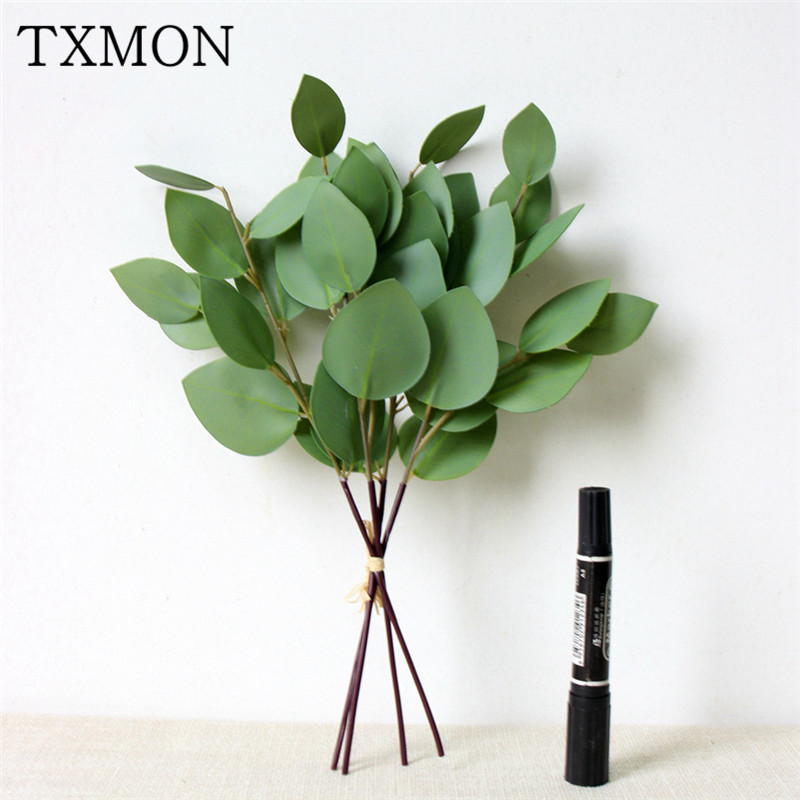 Wedding Eucalyptus Leaves Artificial Bouquet Simulation Plant Fake Foliage