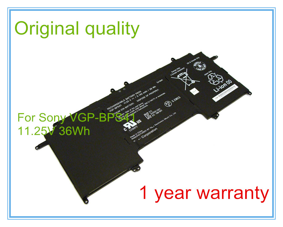 11.25V 36WH  Original laptop battery for  Fit 13 a PC tablet VGP - BPS41 battery Free shipping original laptop battery for t440p t540p w540 l440 l540 45n1144 45n1145 45n1148 45n1149