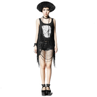 Punk Womens Rock Top Shirt Vest with Spider Visual Kei Casual harajuku emo Summer Style Skull Printing Women Shirt