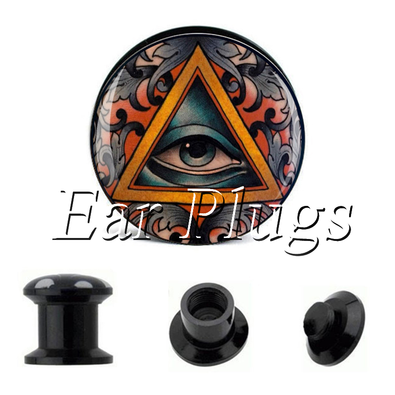 Wholesale Tattoo Eye plug gauges acrylic screw ear plug flesh tunnel piercing body jewelry